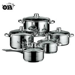 NEW ELO Germany 10 Piece Cookware Induction Pots and Pan Set
