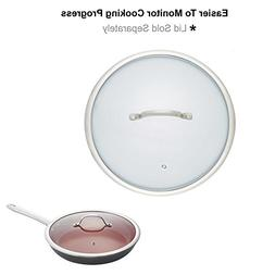 Glass Frying Pan Lid, 12 Inch Tempered Glass Cookware Lid Wi