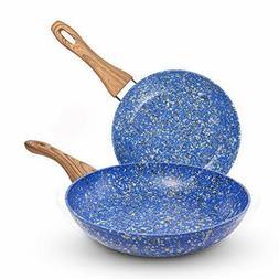 MICHELANGELO Granite Nonstick Frying Pan Set, Nonstick Skill