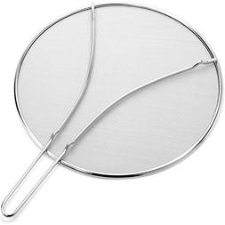 Grease Splatter Screen for Frying Pans 13 Inch Heavy Duty wi