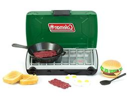 Green Coleman 18 Inch Doll Camping Stove & Food Set with Fry
