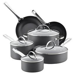 Farberware Hard-Anodized Aluminum Nonstick Cookware Set, 14-