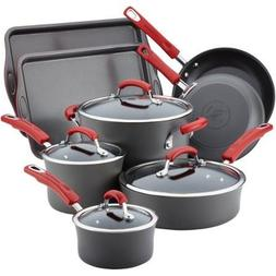 Rachael Ray Hard-Anodized Nonstick 12-Piece Cookware Set, Gr