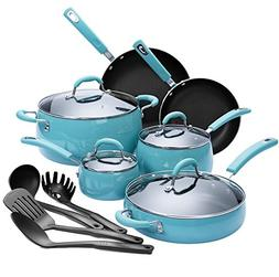 Finnhomy Hard Porcelain Enamel Aluminum Cookware Set, Cerami