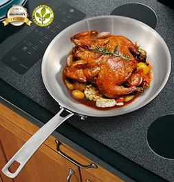 11 Inch Tri-Ply Stainless Steel Frying Pan Stainless Steel S