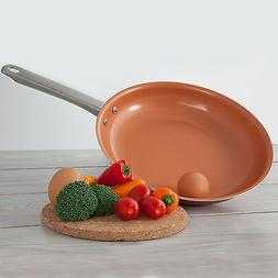 "Healthy Non Stick 10"" Copper Ceramic Coated Frying Pan Fry P"