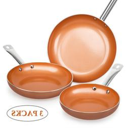 healthy non stick copper ceramic 3 pcs