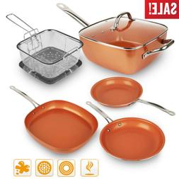 Healthy Non Stick Copper Ceramic Induction Bottom Frying Pan