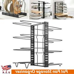 Home Kitchen Frying Pan Pot Cupboard Rack Organizer Shelf St