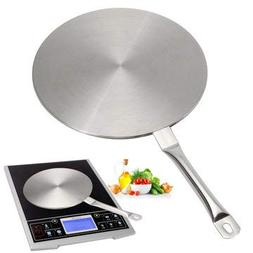 """9"""" Induction Cooktop Converter Disk Stainless Steel Plate St"""
