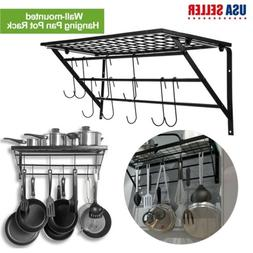Iron Hanging Pot Holder Frying Pan Hanger Kitchen Storage Co