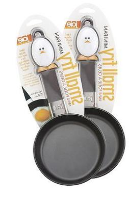 """Joie Mini Nonstick Egg and Fry Pan, 4.5"""" Set of 2"""
