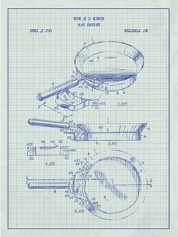 Kitchen & Dining 'Frying Pan' Silk Screen Print Grap