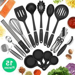 Vremi 15 Piece Kitchen Gadgets Set - 5 pc Cooking Utensils 4