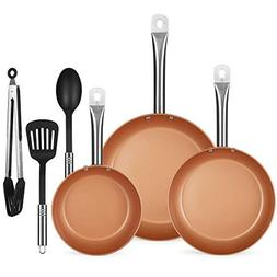 Best Choice Products 6-Piece Kitchen Non-Stick Ceramic-Coate