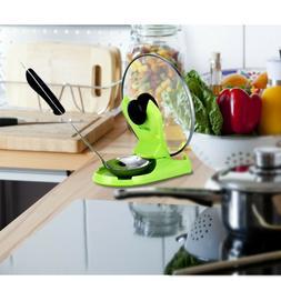 Kitchen Supplies ABS Frypan Lid Shelf Rack Pot Cover Holder