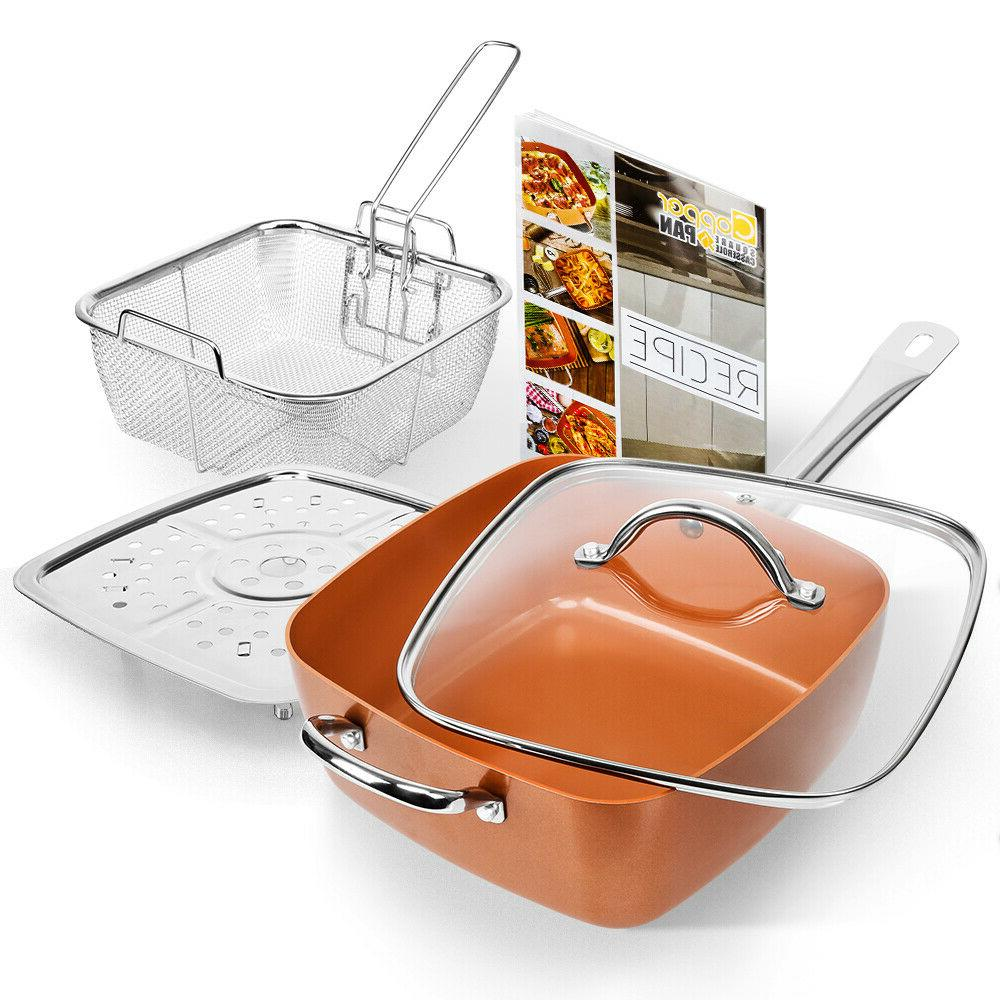 1 Stick Copper Induction Frying Pan Kitchen