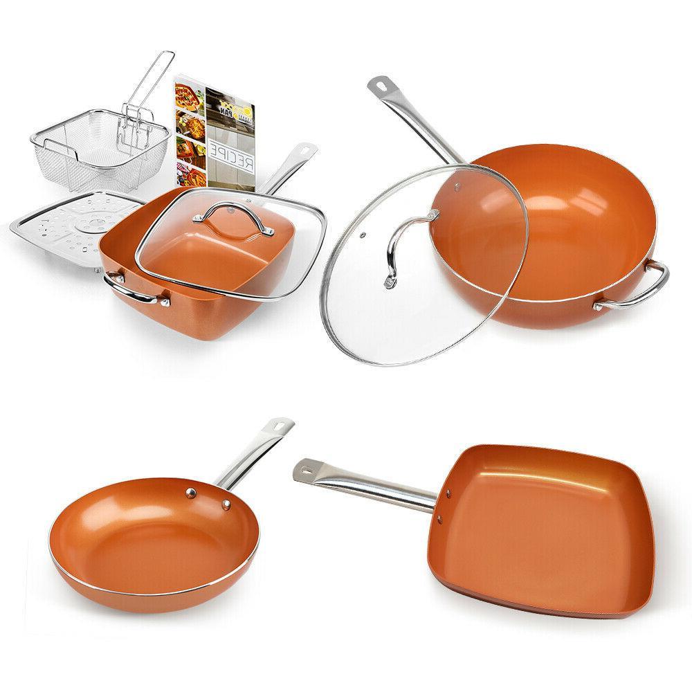 1 pcs healthy non stick copper induction