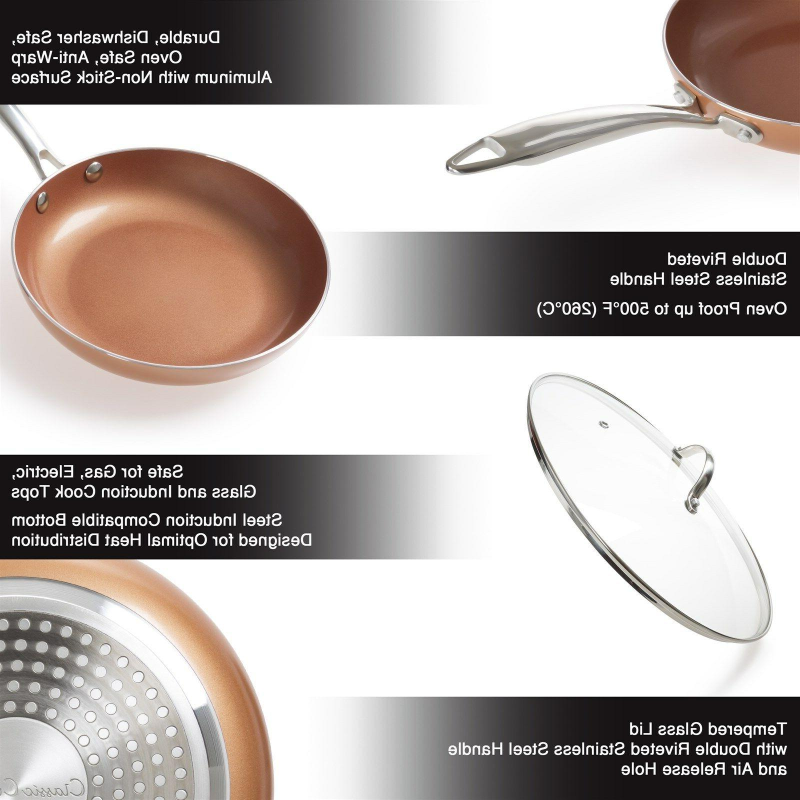 10 Inch with Lid Copper Induction Cooking Top