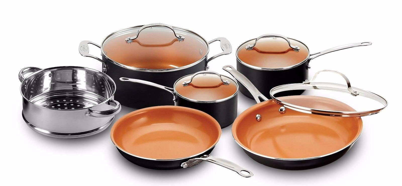 Gotham Steel 10-Piece Kitchen Nonstick Frying Pan & Cookware