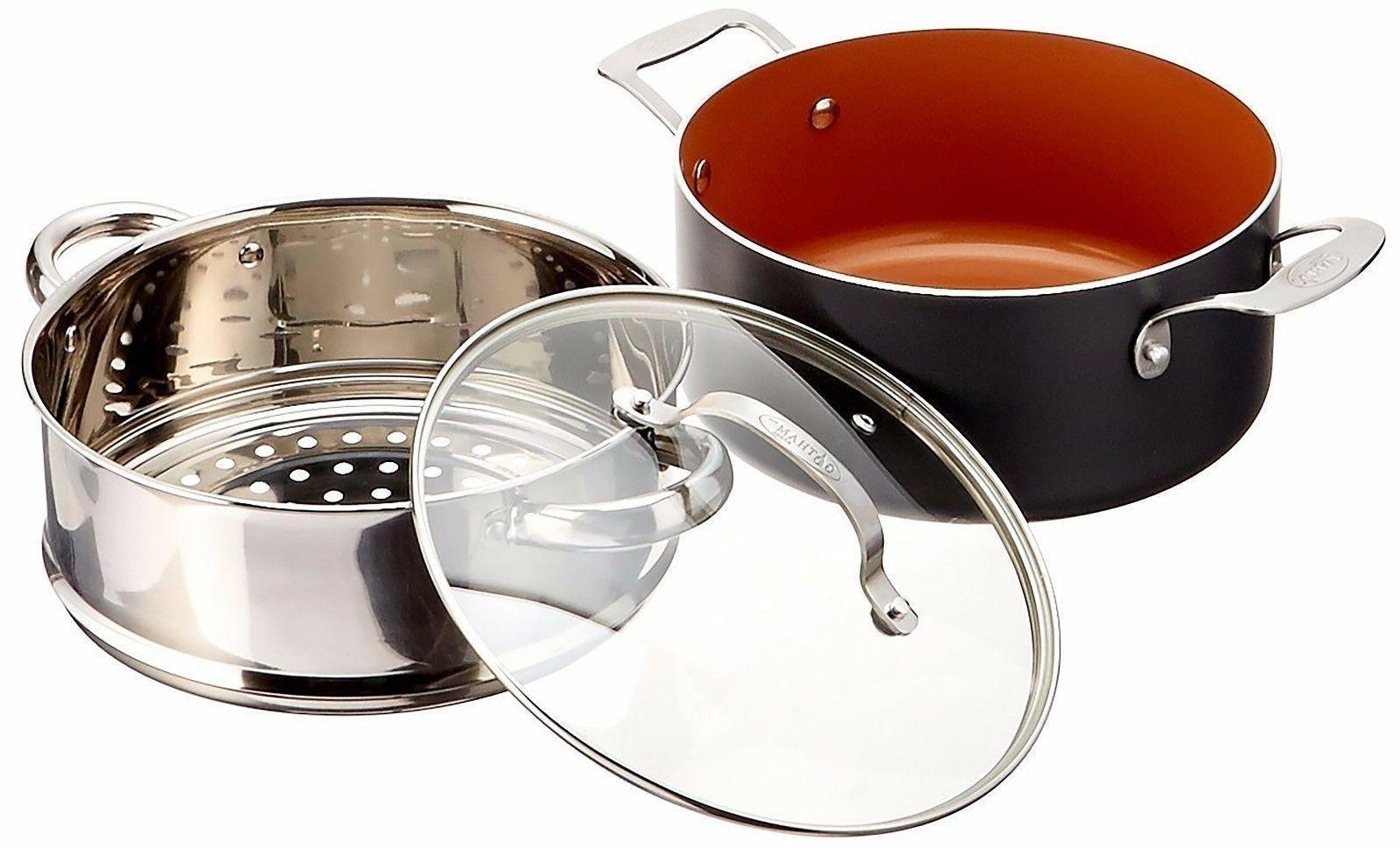 "GOTHAM 10-Piece Nonstick Frying Set 9.5"" Pan"