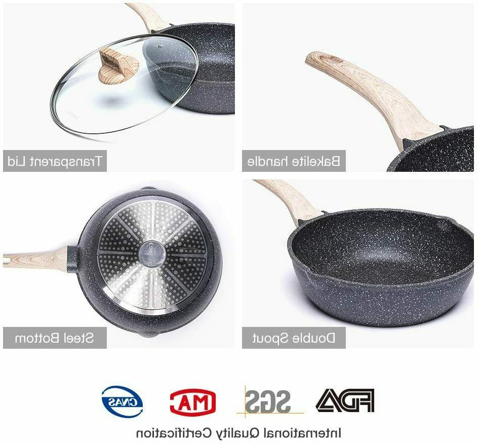 Saute Deep Pan with Cover 9.5 in