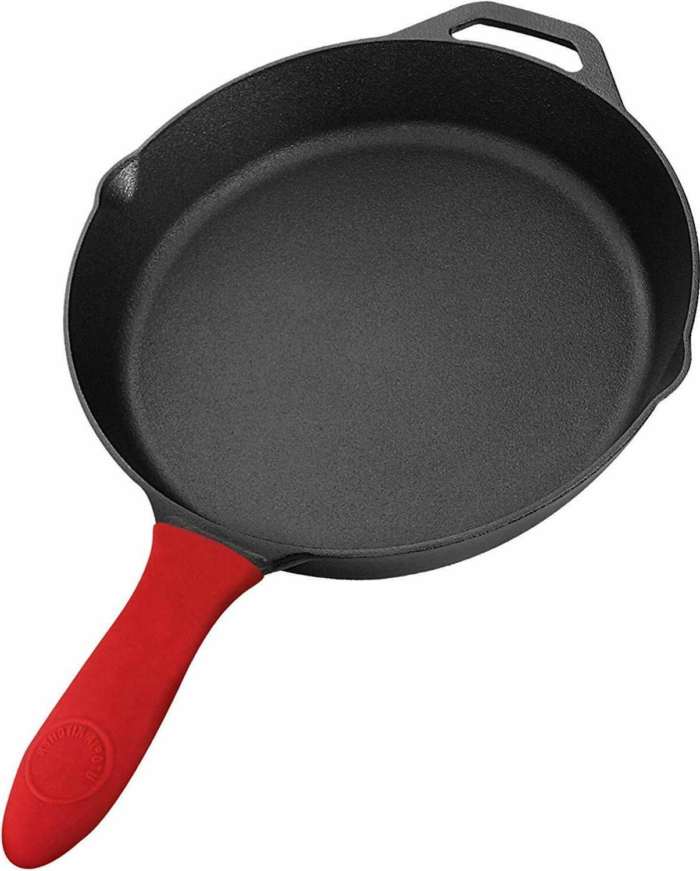 pre seasoned cast iron skillet cookware 12