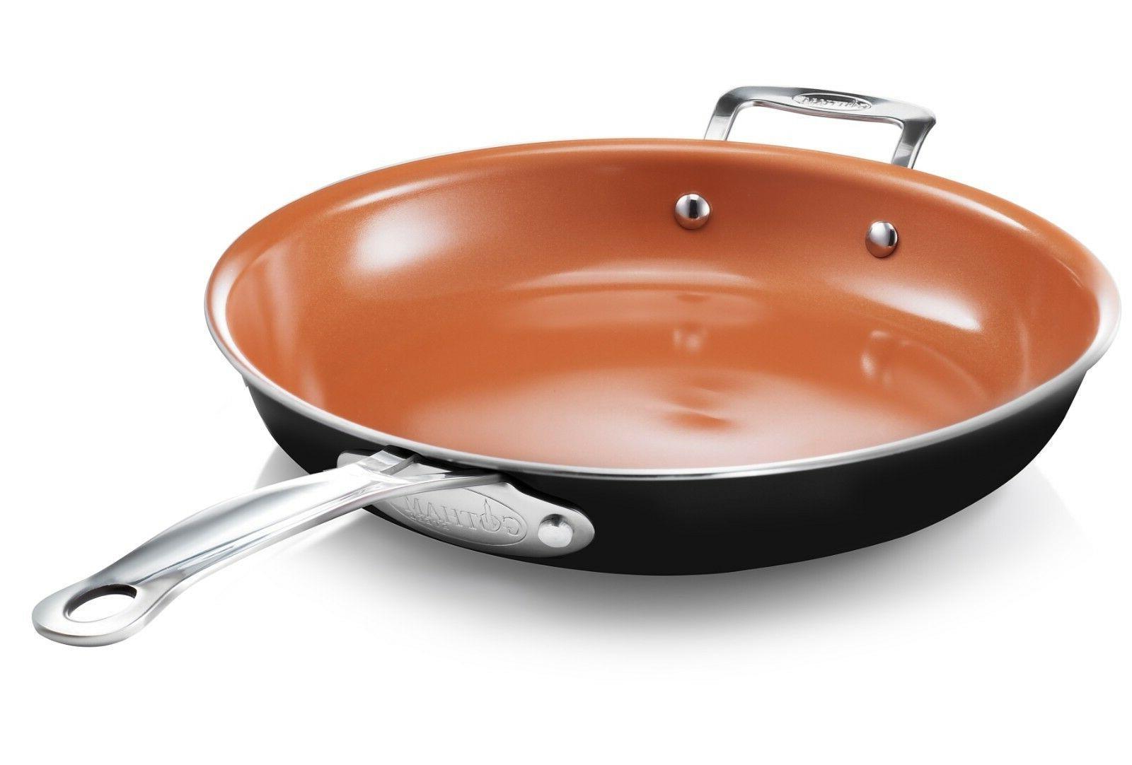 12 5 nonstick xl copper premium fry