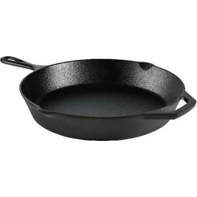 "Cast Iron Skillet 12""  Pre-Seasoned Frying Cookware Cooking"