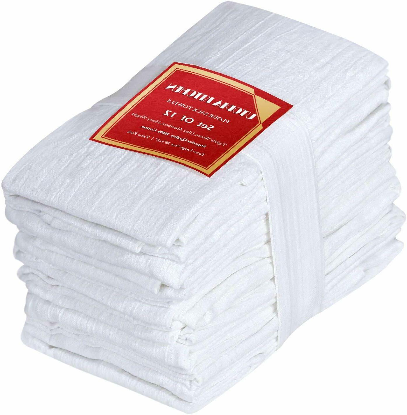 12 pack flour sack towels100 percent pure