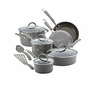 12-Piece Nonstick Kitchen Pans Pots Durable Aluminum