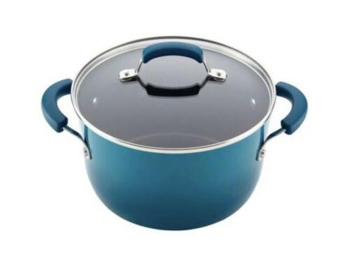 12pc Ray Cookware Set Nonstick Pots Pans Lids Stick Rachael