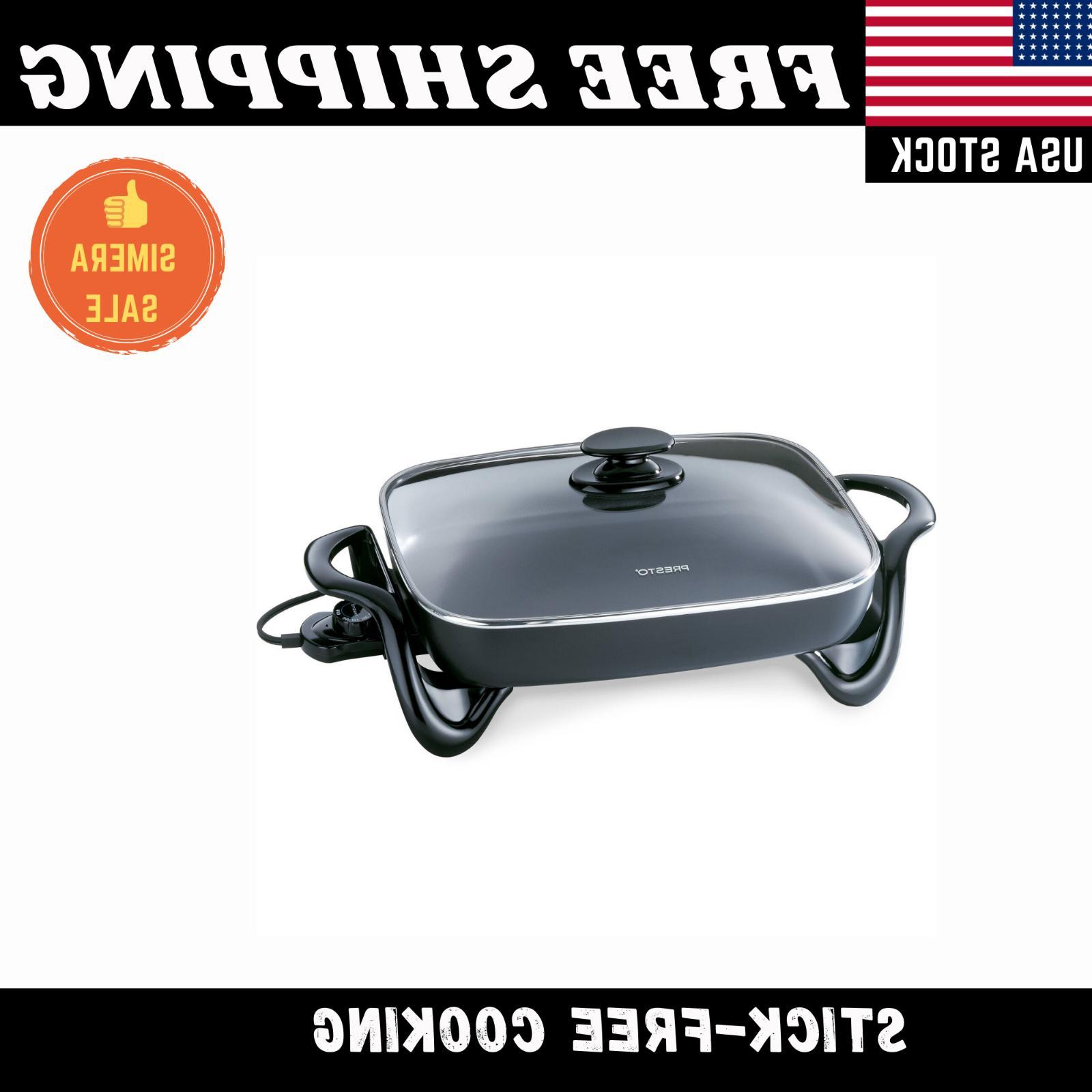"16"" Electric Frying Server Black"