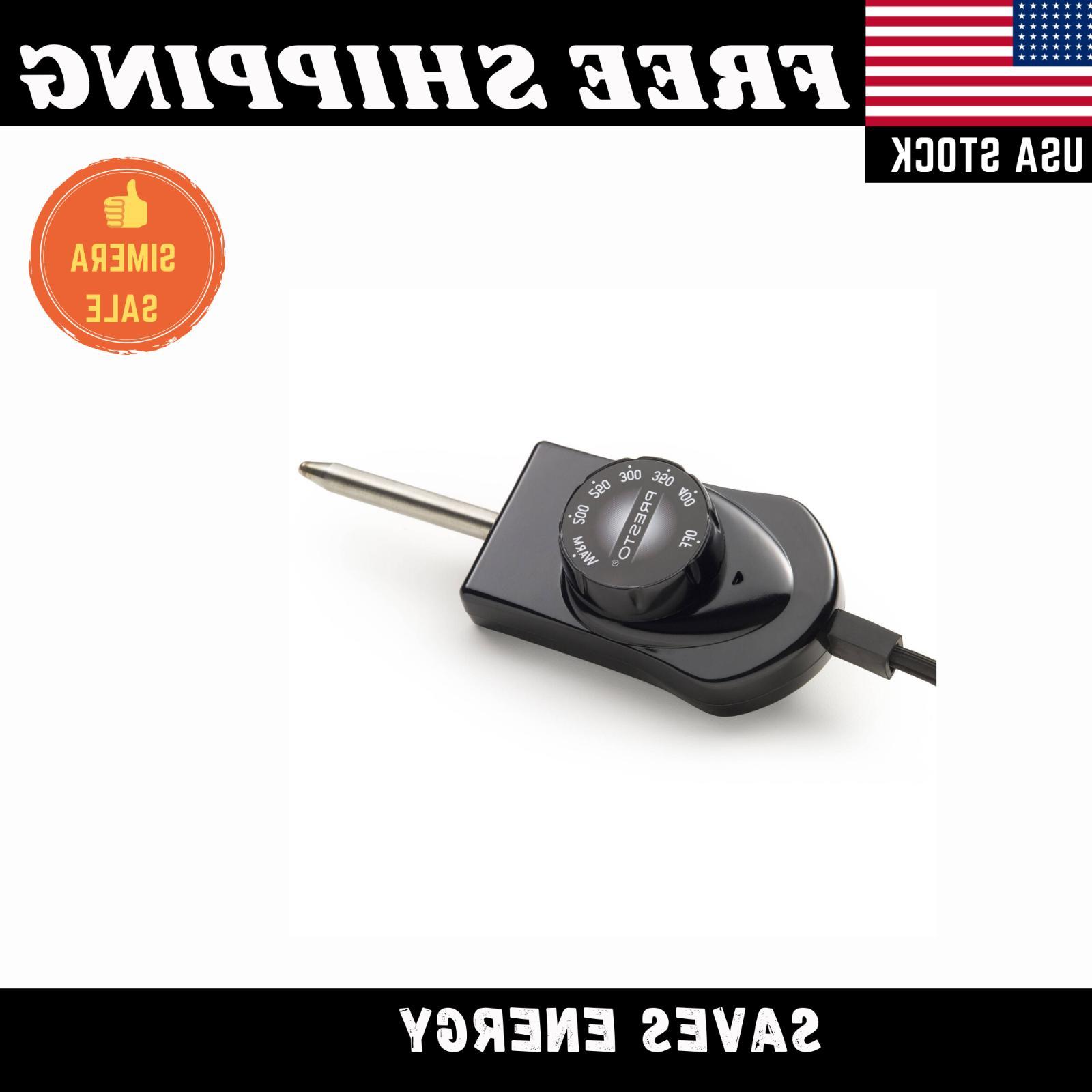 "16"" Electric Frying Fry Server W/ Glass Black"