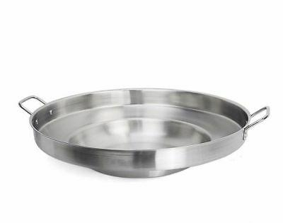 """23"""" Round Stainless Concave Pozo Griddle Taco Grill Wok"""