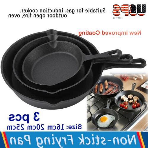 3Pcs/Set Cast Cookware Utopia