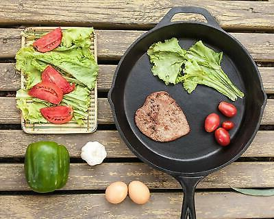 Utopia 4 Pack Pre-Seasoned Iron Skillet 12.5 Inches Pack of