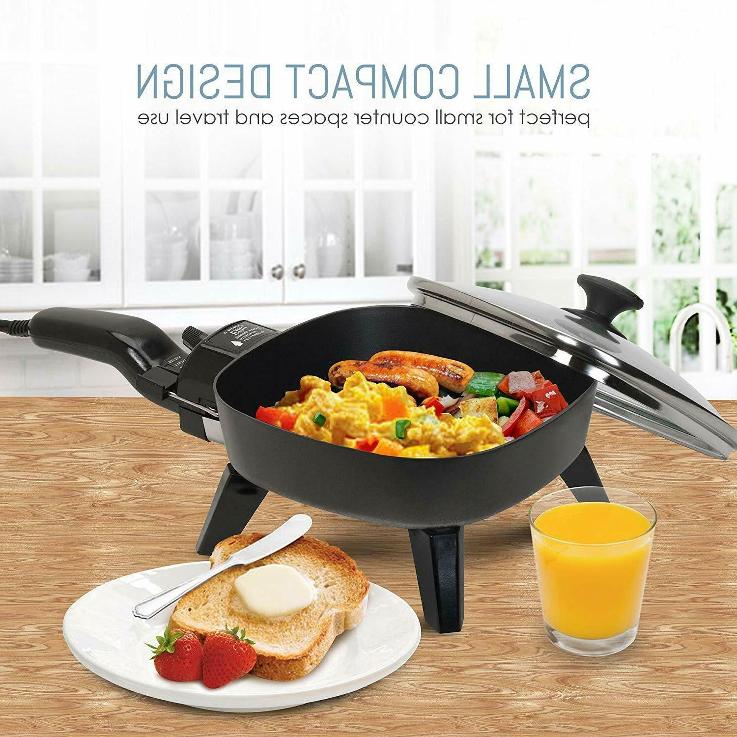 small electric fry pan kitchen skillet mini