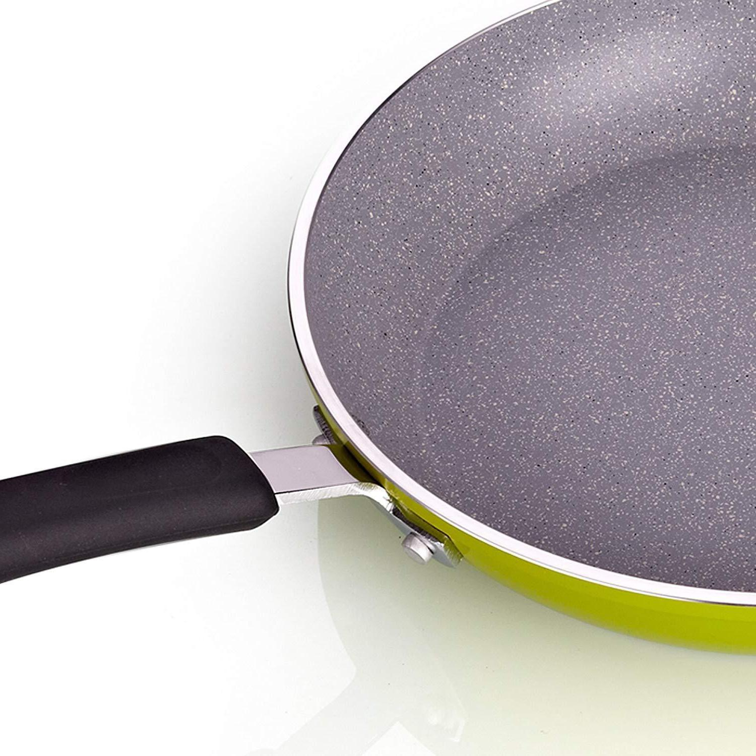 Cook N Home 8 and Heavy Gauge Fry Saute Skillet Set,