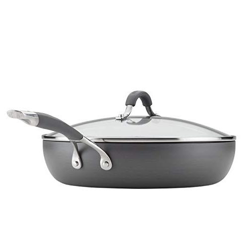 Circulon 83907 Covered deep Hard Anodized Aluminum Skillet Inch Gray