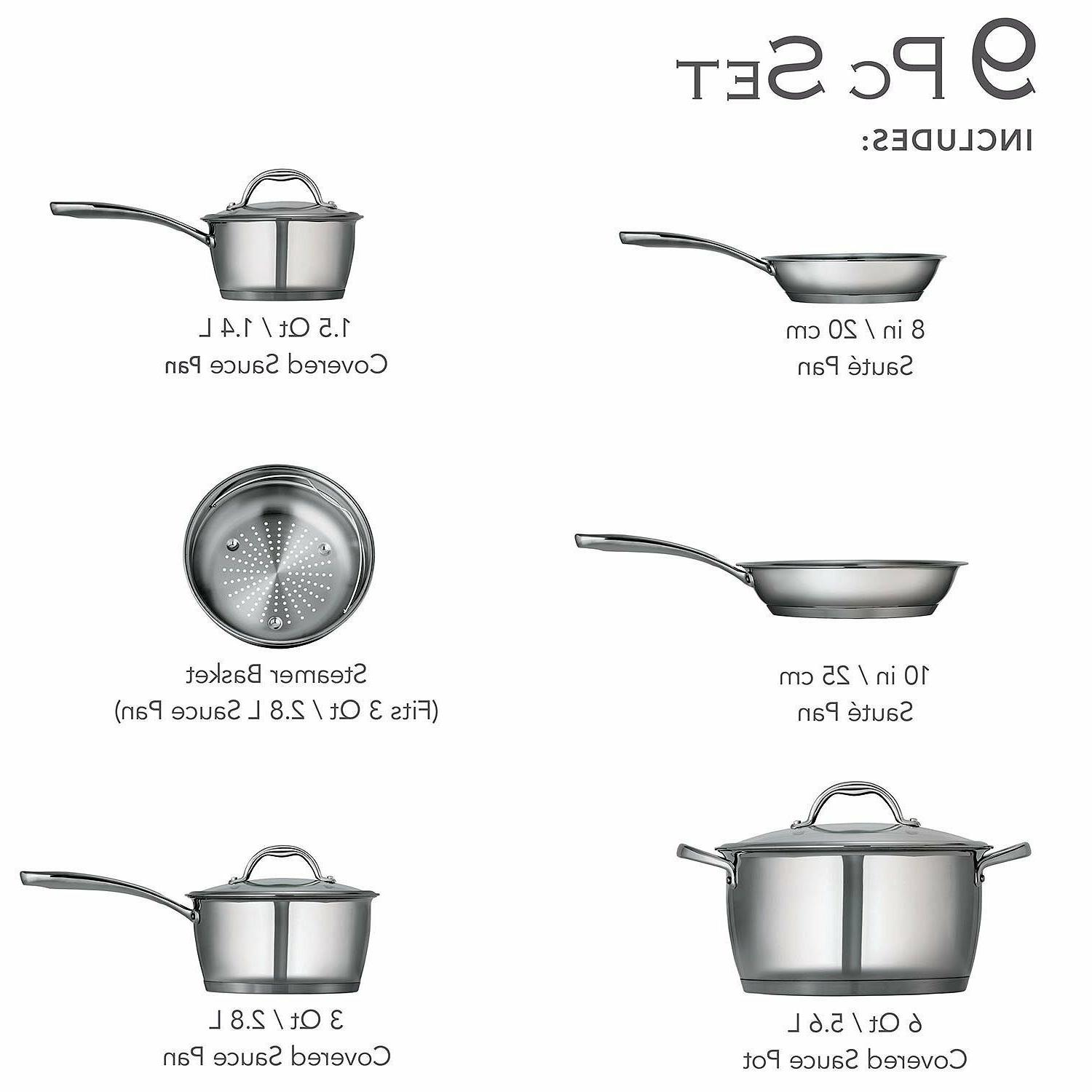 Tramontina 8/10 Stainless Steel Tri-Ply Base Set