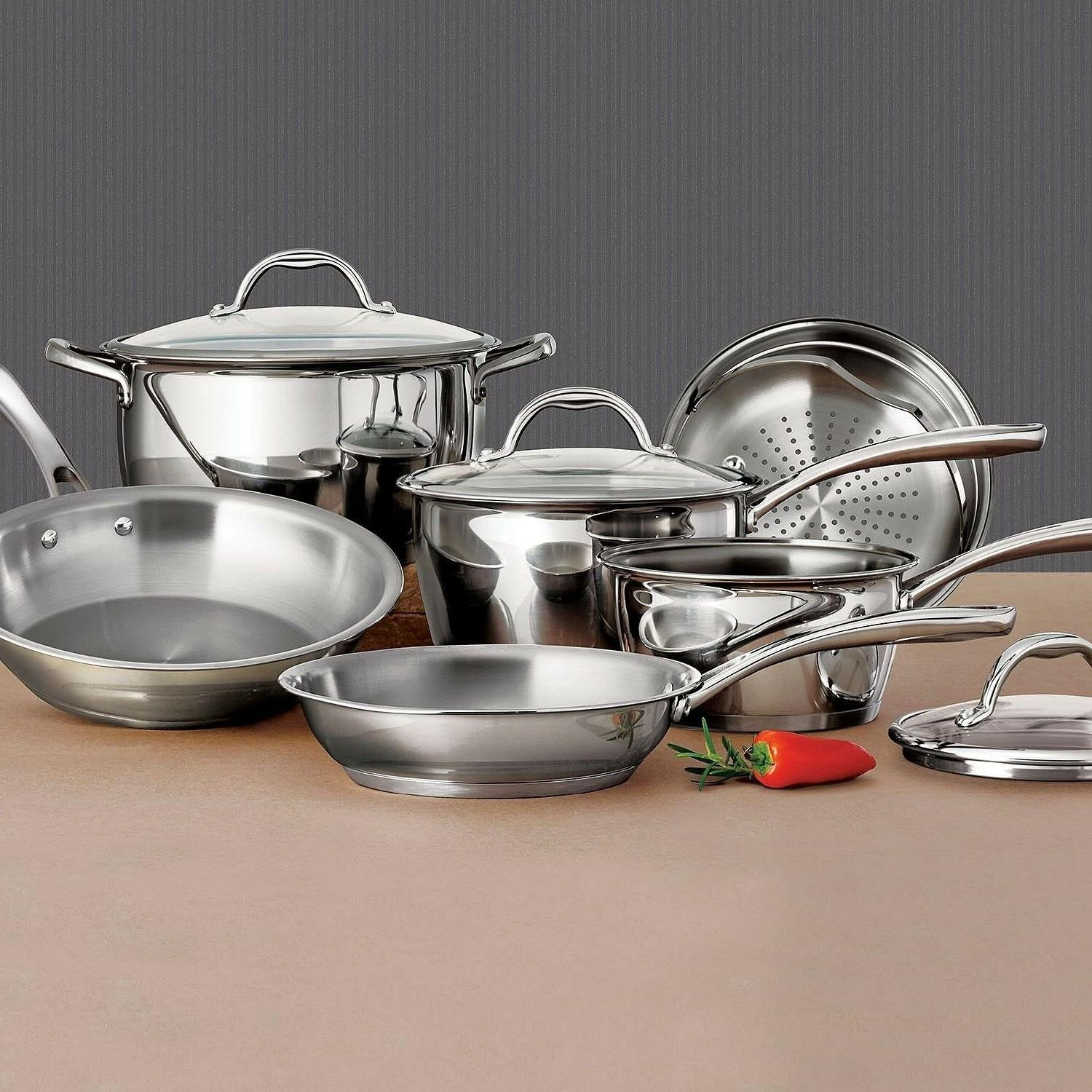 Tramontina 9-Piece Stainless Steel Tri-Ply Base Set
