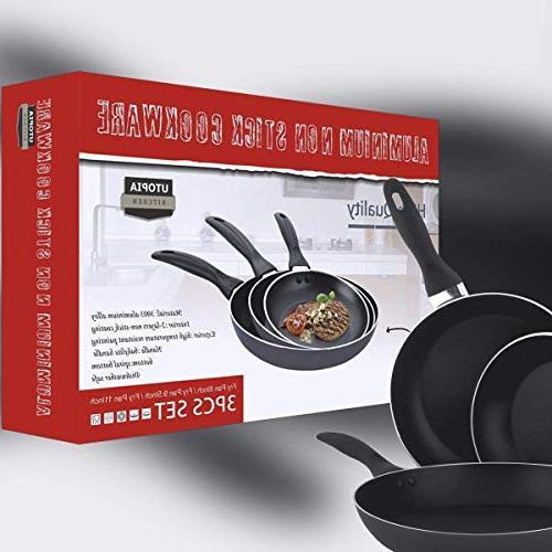 Aluminum Set - - Fry Pan/Frying Dishwasher Safe - Utopia Kitchen