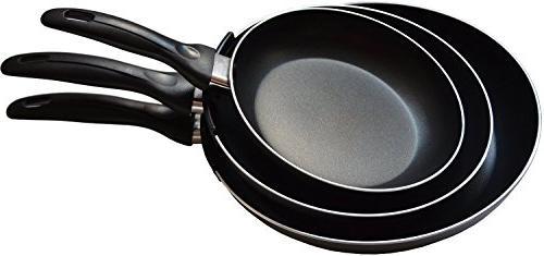 Aluminum Nonstick Pan Set - Pan/Frying pan Dishwasher Safe - by Utopia Kitchen