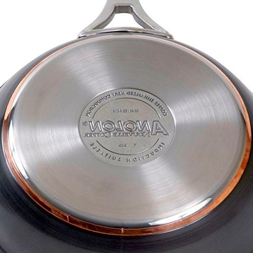 Anolon Copper Nonstick Pack and 10-Inch Skillets, Dark Gray