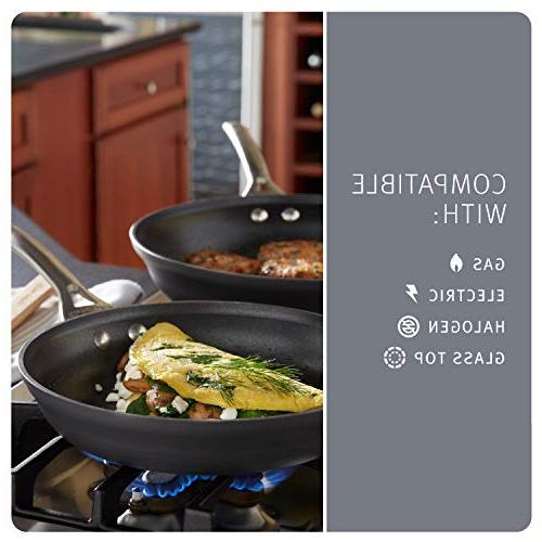 Calphalon Contemporary Hard-Anodized Aluminum Nonstick Omelette Pan, Set, Black