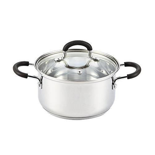Cook N Home 3 Quart Stainless Steel Sauce Pot Casserole with