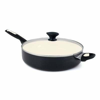 GreenPan Rio 5QT Ceramic Non-Stick Covered Skillet with Help