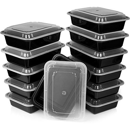 Heim Meal Prep Containers with Lids Rack Safe Microwavable Stackable Meal Prep Convenience 12-pack