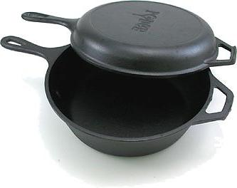 Lodge 3 Quart Iron Combo Cooker. Cast Iron Dutch Skillet/Griddle